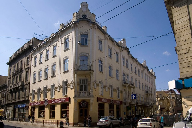 Former residential building at 1-1a Kostiushka St.