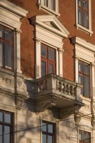 Вул. Валова, 14. Балкон 3-го пов. на бічному фасаді