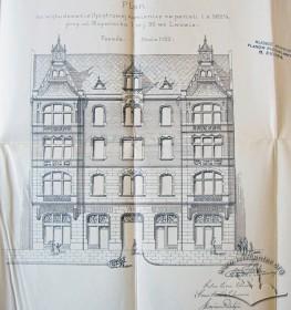 Головний фасад за оригінальним проектом Яна Шульца