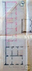 Проект добудови мурованої офіцини до попереднього будинку (1871 р.) План партеру