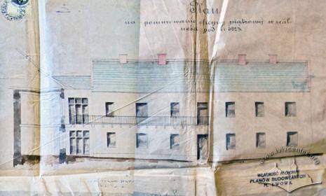 Проект добудови мурованої офіцини до попереднього будинку(1871 р.) Фасад