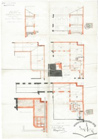 Project of a wing with a bowling room, cafeteria etc. Drawing by Alfred Kamienobrodzki (1899)