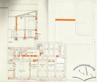 Basement floor plan. Drawing by Rudolf Polt (1933)