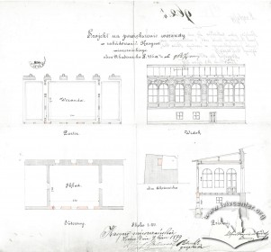 Design for the construction of a veranda by Alfred Kamienobrodzki (1879)