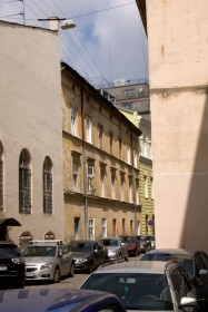 Prosp. Shevchenka, 11. View of the rear facade/ view from vul. Nyzhankivskoho