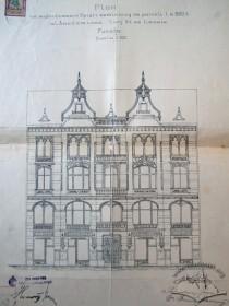 The original design of the principal elevation