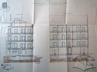 Cross sections of the building