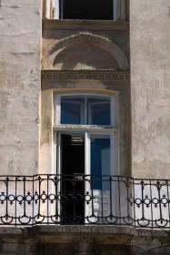 Пл. Ринок, 3. Фрагмент фасаду в рівні ІІ-го пов. з балконом