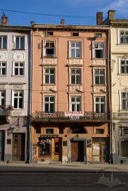 Пл. Ринок, 16. Вид на головний фасад кам'яниці