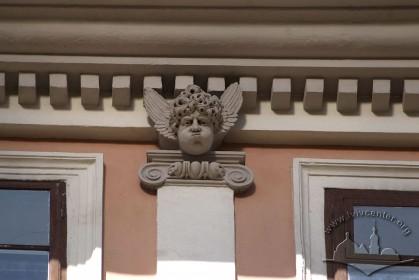 Вул. Вірменська, 23. Фрагмент теперішнього вінцевого карнизу