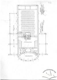 Вул. Бандери, 34. План 1-го поверху кінотеатру. 1933 р.