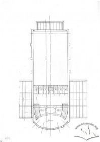 Вул. Бандери, 34. План 2-го поверху кінотеатру. 1933 р.