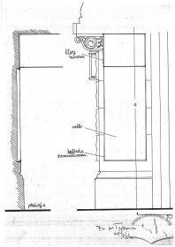 """Вул. Коперника, 9.Проект неонової реклами. Передбачається  неоновий надпис """"Kopernik"""" на фризі під балконом,влаштування підсвітки декору пілястр (фасад)"""