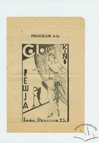 """Програма кінотеатру """"Колізей"""", 1920-ті рр."""