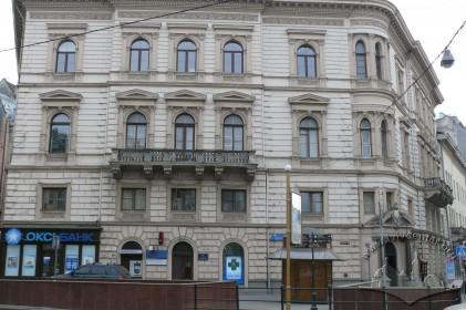 Просп. Шевченка, 1. Фрагмент фасаду будинку