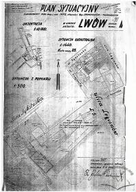Креслення ситуаційної схеми, 1937 р.