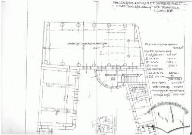 Пр. Шевченка, 8. Ескізне креслення плану будинку з офіцинами
