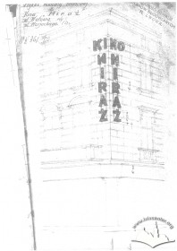 Пл. Міцкевича, 10. Проект неонової реклами на фасаді будинку