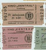 """Вхідні квитки кінотеатру """"Централь"""", 1941-1944 рр."""