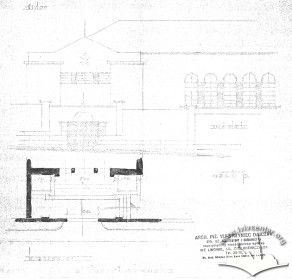Вул. Короленка, 1а. Фрагмент проекту будинку