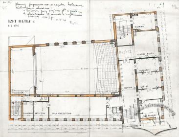 План другого поверху з оригінального проекту будинку Тадеуша Врубеля
