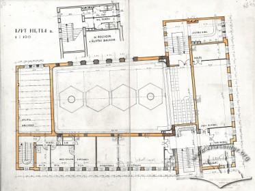 План третього поверху з оригінального проекту будинку Тадеуша Врубеля