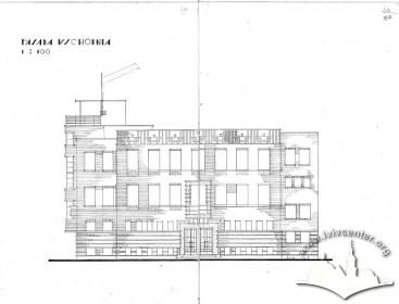 Головний фасад з оригінального проекту будинку Тадеуша Врубеля