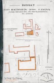Ситуаційна схема з оригінального проекту будинку Тадеуша Врубеля