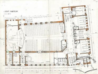 План першого поверху з оригінального проекту будинку Тадеуша Врубеля