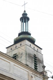 Pl. Mytna, 2. The Art Deco spire of the bell tower
