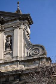Vul. Vynnychenka, 30a. Volutes on the principal facade