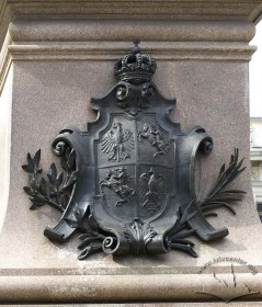 Cartouche with Polish and Lithuanian coats-of-arms