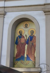 Vul. Lychakivska, 82. The mural above the main entrance