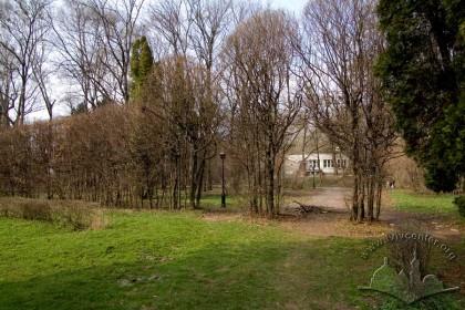 Вул. Стрийська. Південна частина Стрийського парку. Раніше в цих місцях розташовувався стадіон українського спортивного товариства «Сокіл-Батько»