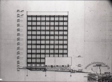 Draft of the building's northern facade