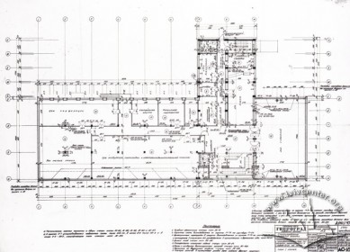 Draft of the building's 2nd floor.
