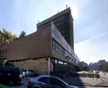 Prosp. Chornovola, 4. View of the building from the crossing of Chornovola prospect and Detka str.
