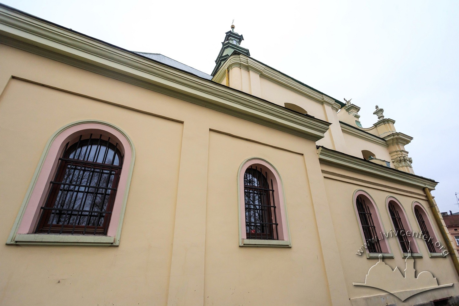 Vul. Zhovkivska, 8. Northern facade of the former church building/Photo courtesy of Nazarii Parkhomyk, 2015