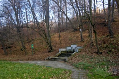 Zalizna Voda, spring below the northern slope of the hill on which the park is  located.