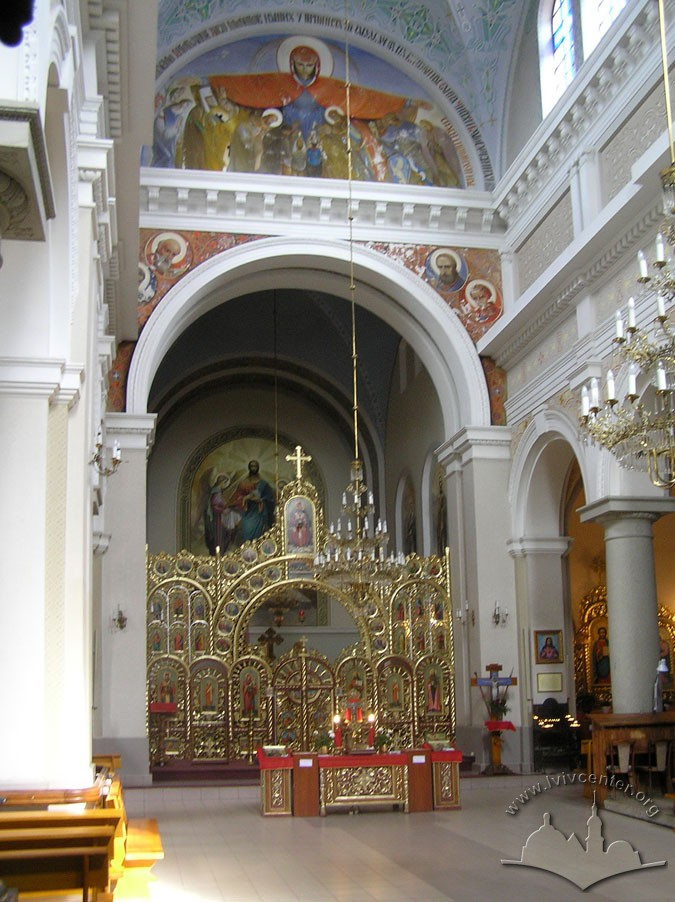 Vul. Zamarstynivska, 134. Interior, a view towards the iconostasis/Photo courtesy of Ihor Syomochkin, 2012