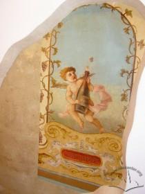 Вул. Краківська, 9. Фрагмент віднайдених розписів на стелі сіней будинку