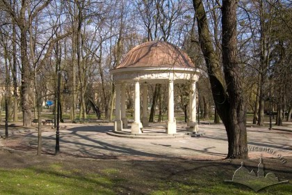 Ivan Franko Park, early 19th century rotunda, located at park center.