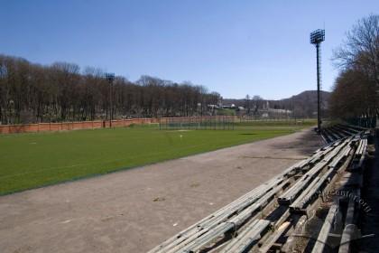 Вул. Вахнянина, 1. Загальний вигляд стадіону з боку трибун