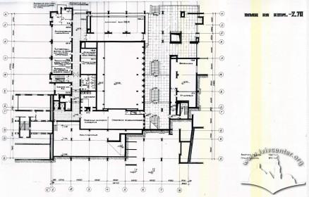 Floor-plan, second under-ground level