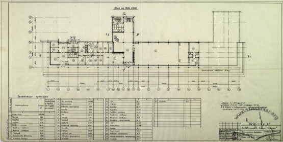 Publishing House, floor plan, 1st floor (Lviv Prombudproekt, archives)
