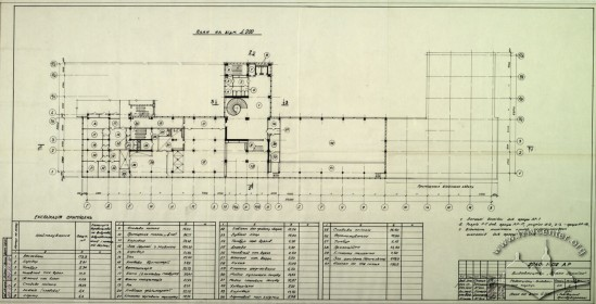 Publishing House, floor plan, 2nd floor (Lviv Prombudproekt, archives)
