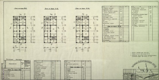 Publishing House, floor plan, 4th, 5th, 6th floors (Lviv Prombudproekt, archives)