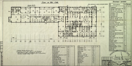 Newspaper/Editorial Building, basement plan (Lviv Prombudproekt, archives)