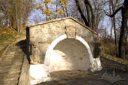 Vysoky Zamok Park; the artificial grotto.