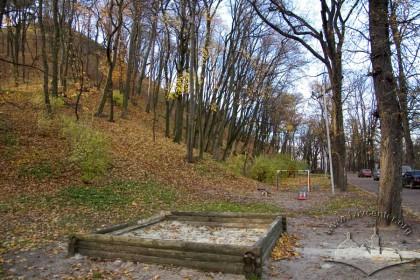 Vysoky Zamok Park; northern slope of Castle Hill.